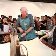 Fred Hagstrom at Hang Zhou Normal University School of Fine Arts in China