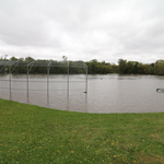 Practice field flooded
