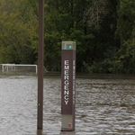 Flooded practice fields