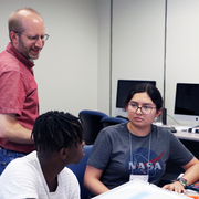 Dave Musicant teaches high school students in the Summer Computer Science Institute.