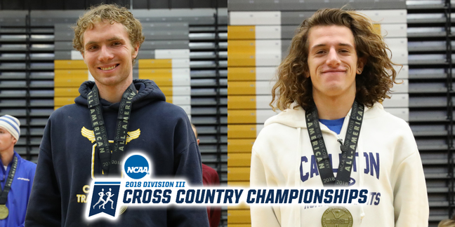 Lucas Mueller (left) and Matt Wilkinson were both All-Americans at the 2018 NCAA XC Championships.