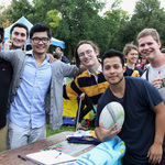 Men's Rugby at the Activities Fair