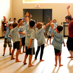 Movement class during Camp Carleton