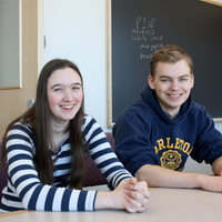 Laura Biester '16 and Adam Canady '16