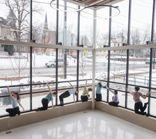 Windows become an important frame for Carleton dancers