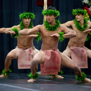 Members of the Hawaiian Dance Troupe Halau Kiawekupono O Ka Ua