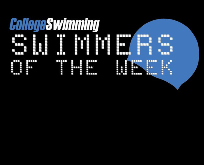 CollegeSwiming.com Swimmer-of-the-Week