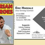 Eric Hinsdale's trading card, 2007-2009
