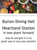 Burton now has a plant forward station