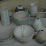 Pots before firing