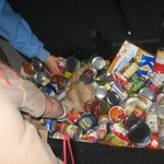 A car-full of cans.