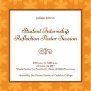 Student Internship Reflection Poster Session info