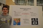 Dexter Corlett '17 at the externship poster session