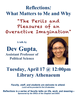 Poster for Gupta Reflections Talk