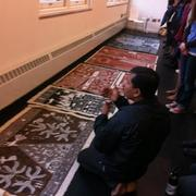 Artist from Ganjad Village India converses with students and public regarding his art