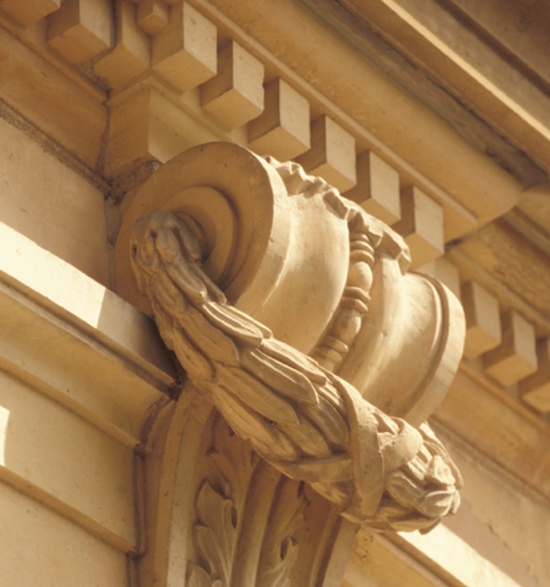Exterior architectural detail, Northfield Middle School