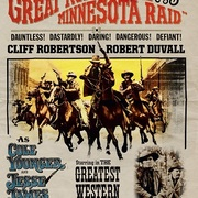 "Promotional poster from the 1972 movie, ""The Great Northfield Minnesota Raid"""