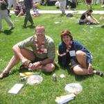 Saturday lunch on Nourse lawn