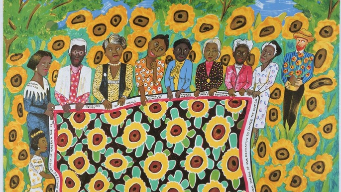 Faith Ringgold, <em>The Sunflower Quilting Bee at Arles</em>