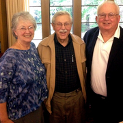 Bob Will '50 (center) with Mimi '66 and Eric '66 Carlson P'97