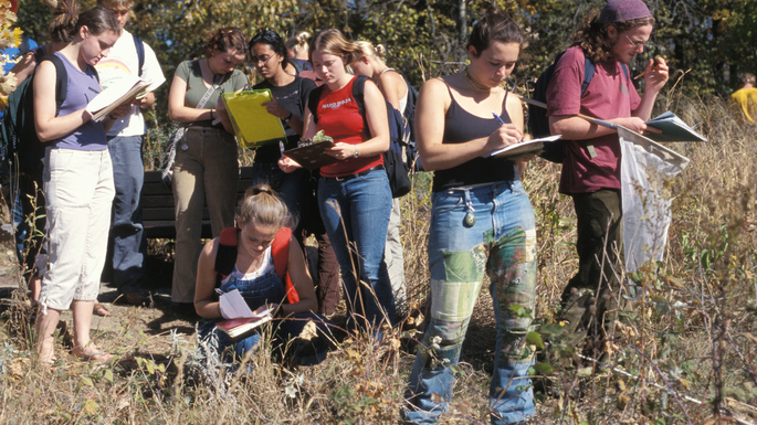 Plant Taxonomy Students in the Arb
