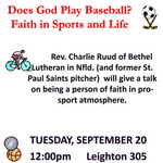 Does God Play Baseball?