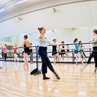 Dancers practice in the new studios