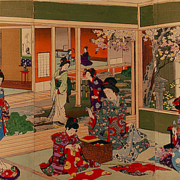 Toyohara Chikanobu Beauty School, c. 1880
