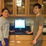 Students at IR Spectrometer