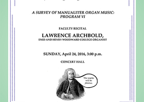Larry Archbold Recital