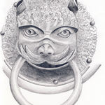 Pencil Drawing of Door Knocker by Nico Davies, '03