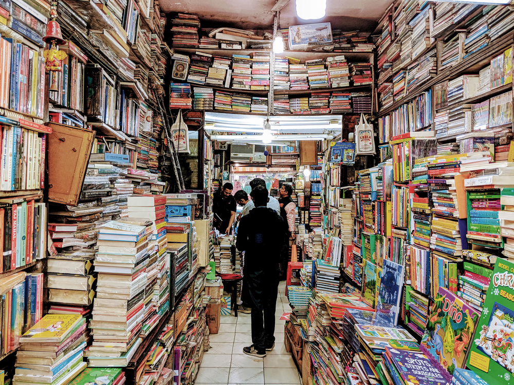 A shop filled floor-to-ceiling with books