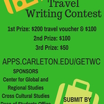 Poster Submission: 2018-03-05 -- 2018-03-12 Travel Writing Contest (Event Publicity)