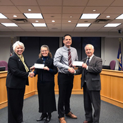 Carleton, St. Olaf present donation to city of Northfield