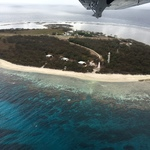 Flying into Lady Elliot Island in the Great Barrier Reef - Winter 2017