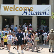 Welcome Alumni banner at Reunion