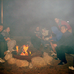 Gathering round the campfire