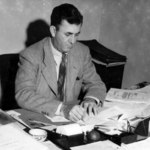 1945. The new president at work at his desk.