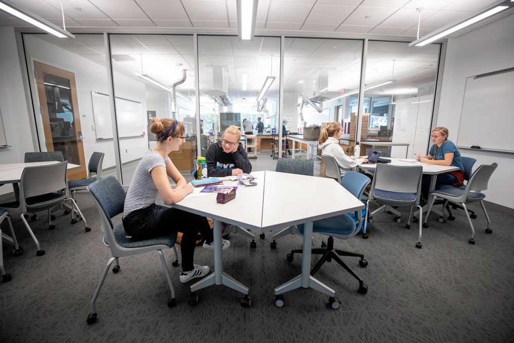 Collaborative space in Anderson Hall