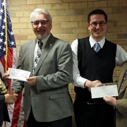 Carleton and St. Olaf officials present the annual gift to the City of Northfield