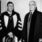 With Trustee Chairman Laird Bell, 1955.