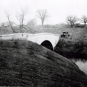 Upper Arboretum Bridge over Spring Creek in the 1920's