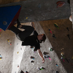 Steven Holley '11 in the Bouldering Cave