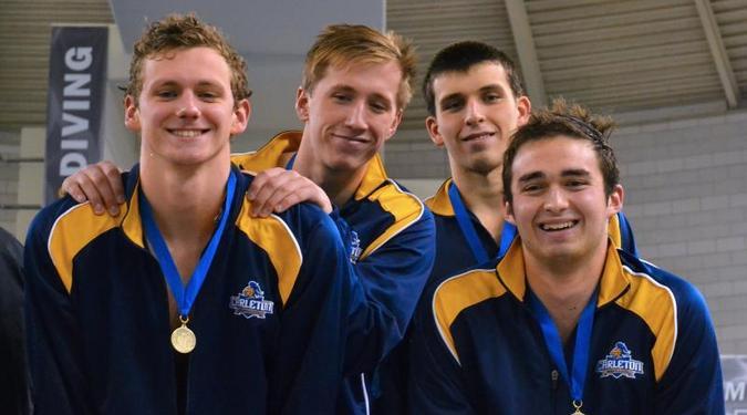 Men 39 S Swimming Diving At Miac Swimming Diving Championships Varsity Athletics Carleton