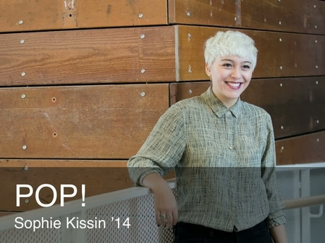 A placard image for media work Sophie Kissin - POP!