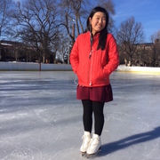 Hannah Pos '20 on the Bald Spot ice rink.