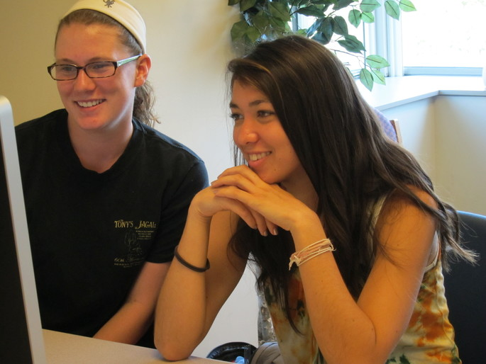 Carleton students Morgan Jones and Elizabeth Arakaki