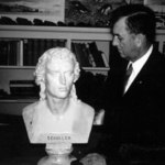 With the bust of Schiller, date uncertain.