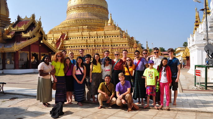 Prof. Tun Myint & OCS students in Myanmar