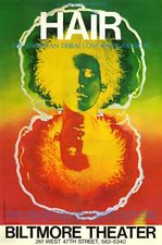 "Original ""Hair"" Broadway poster (1968)"